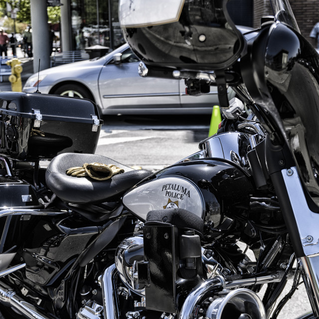 """US Police Motorcycle"" stock image"