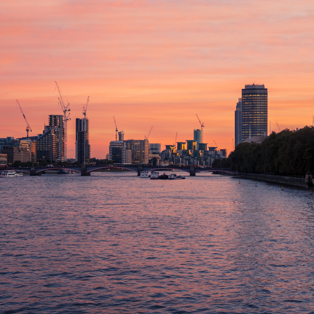 """""""River Thames View"""" stock image"""