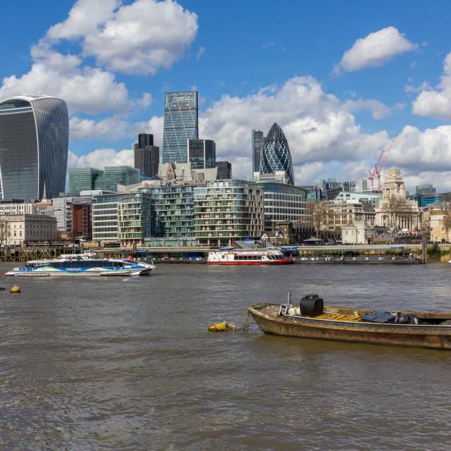 """London River Thames Cityscape"" stock image"
