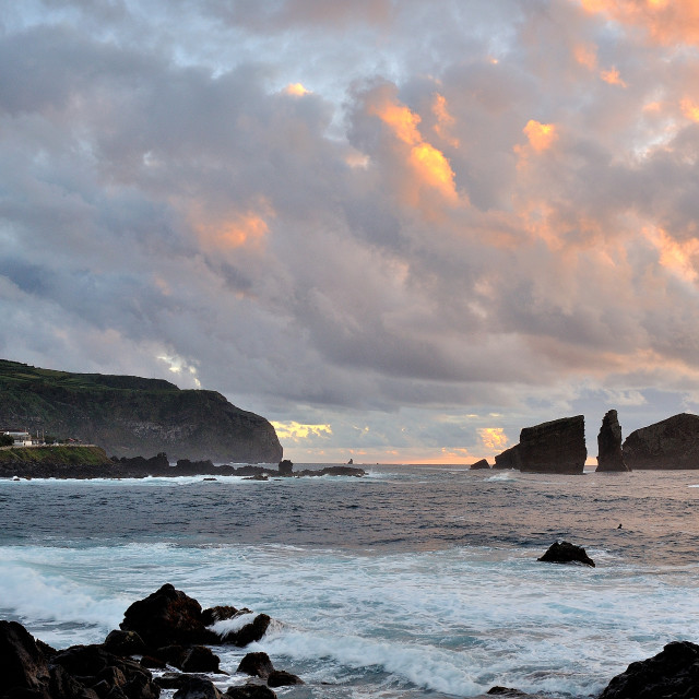 """Azores Sunset"" stock image"