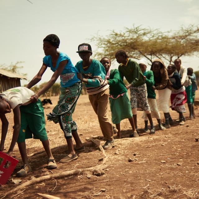 """""""School theatre in Kenya"""" stock image"""