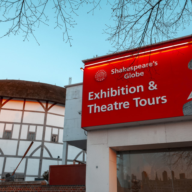 """The Shakespeare's Globe Theatre"" stock image"