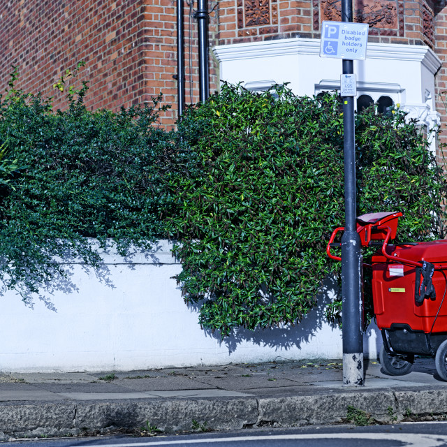 """Royal Mail cart"" stock image"
