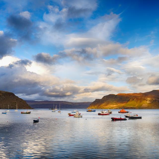 """""""Isle of Skye- Portree"""" stock image"""