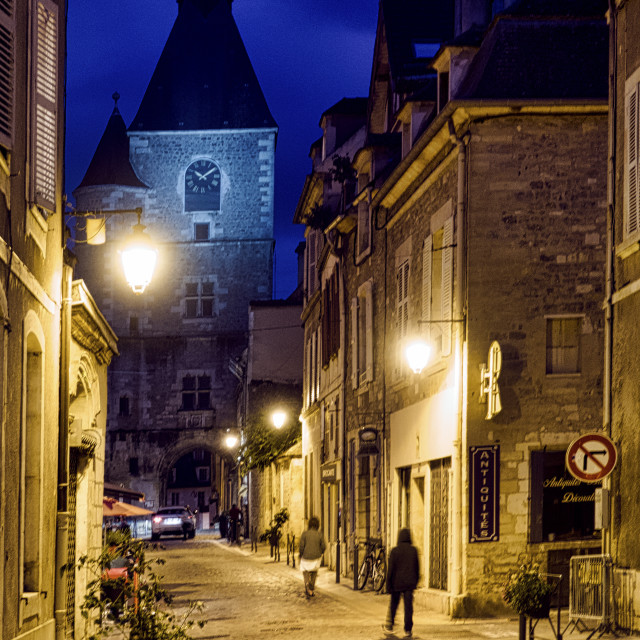 """Avalon, France at night"" stock image"