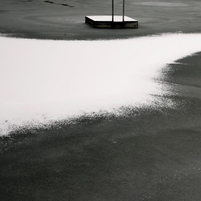 """float on frozen lake"" stock image"