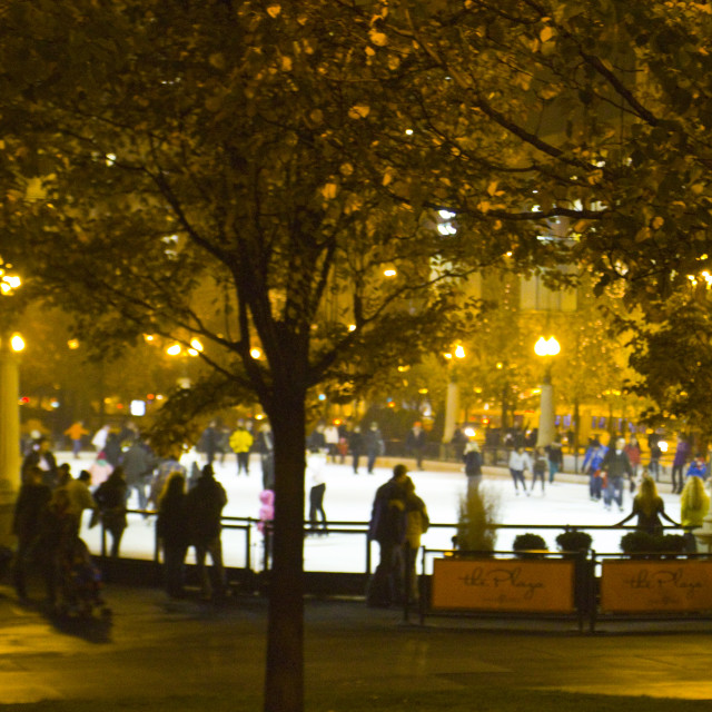 """Ice Rink, Chicago"" stock image"