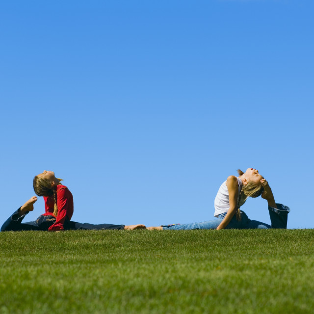 """""""Two Young Girls With Flexibility"""" stock image"""