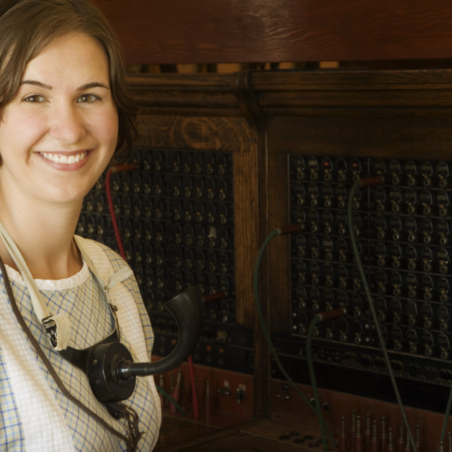 """Switchboard Operator Of The Past"" stock image"
