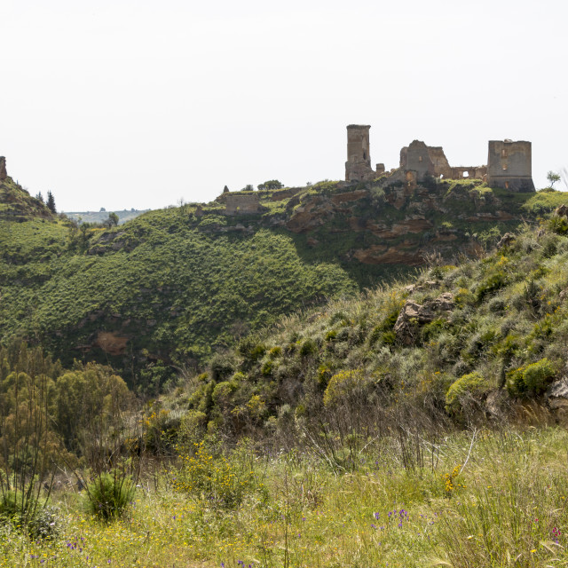 """""""Old medieval castle ruins."""" stock image"""