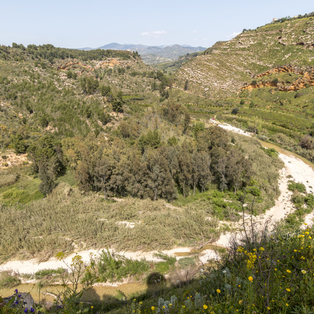 """River valley in Sicily."" stock image"