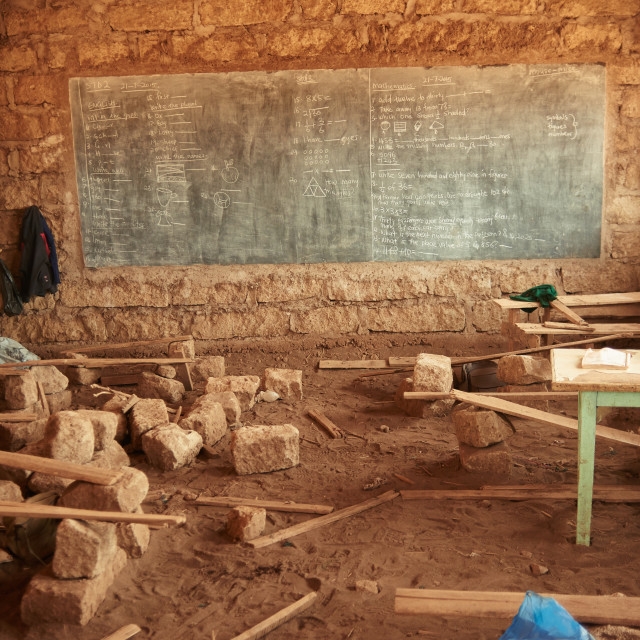 """Class room in a village school."" stock image"