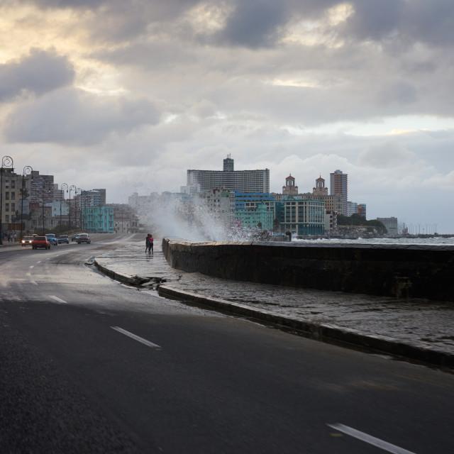 """""""Cuba,Havana, El Malecon"""" stock image"""
