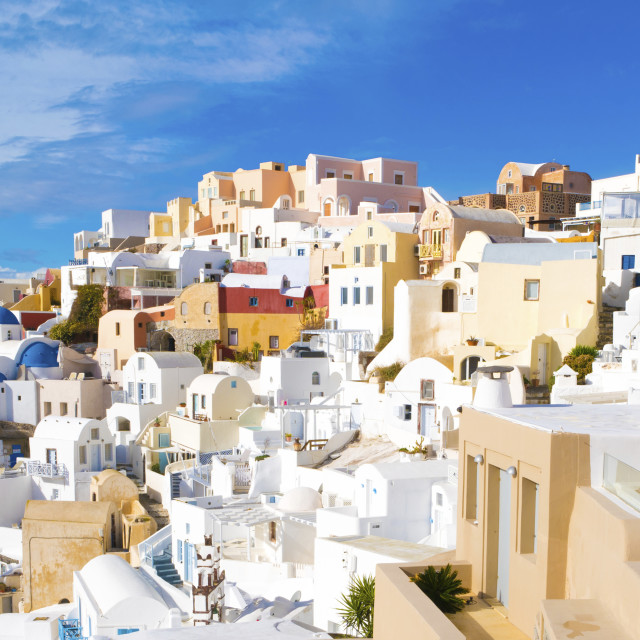 """Oia, Santorini, Greece"" stock image"