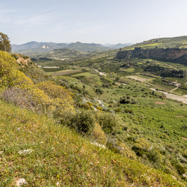 """Sicilian valley during the spring."" stock image"