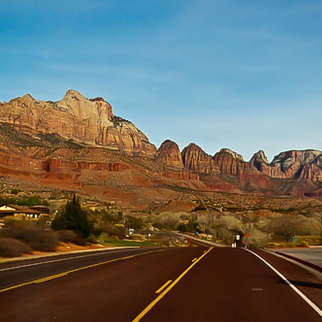 """Utah highway"" stock image"