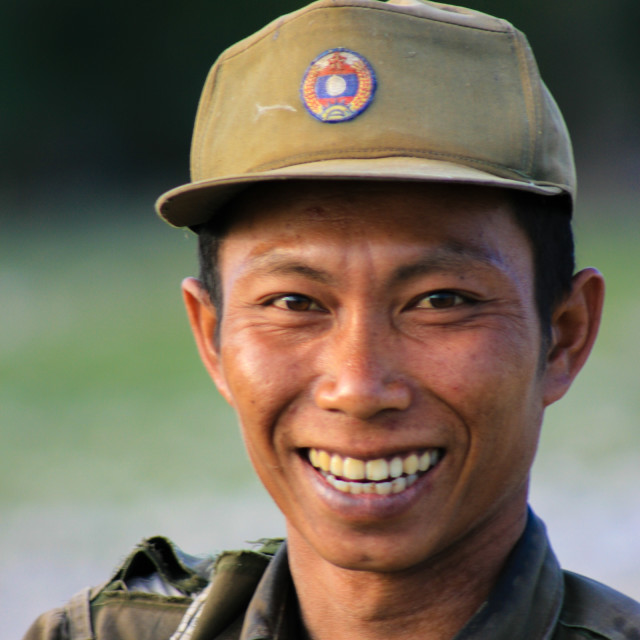 """Forest ranger - Laos"" stock image"