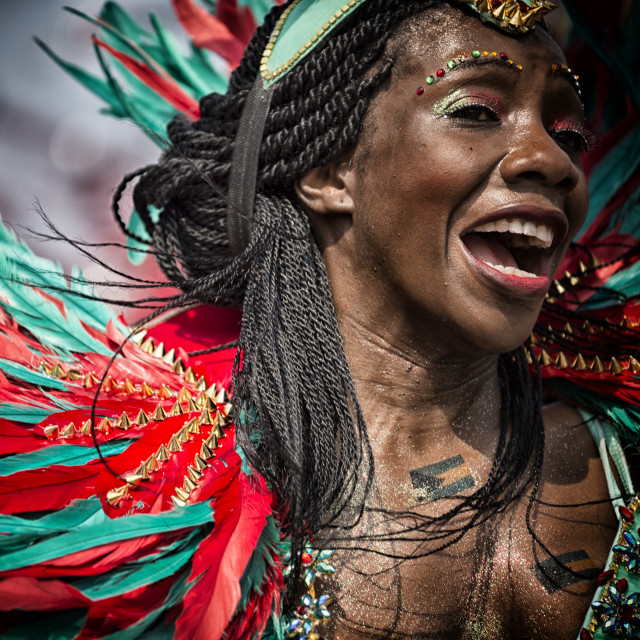 """Happy Face, Happy Caribana: Toronto, Canada"" stock image"
