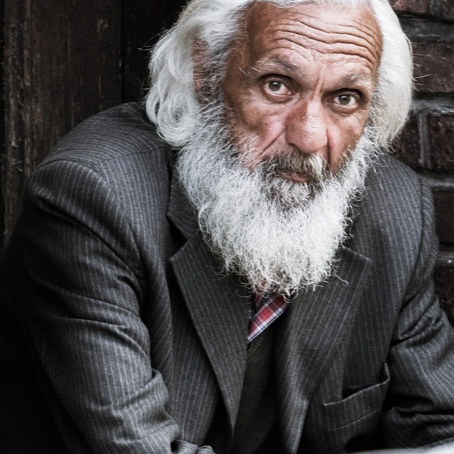 """Bearded man in suit - Istanbul, Turkey"" stock image"