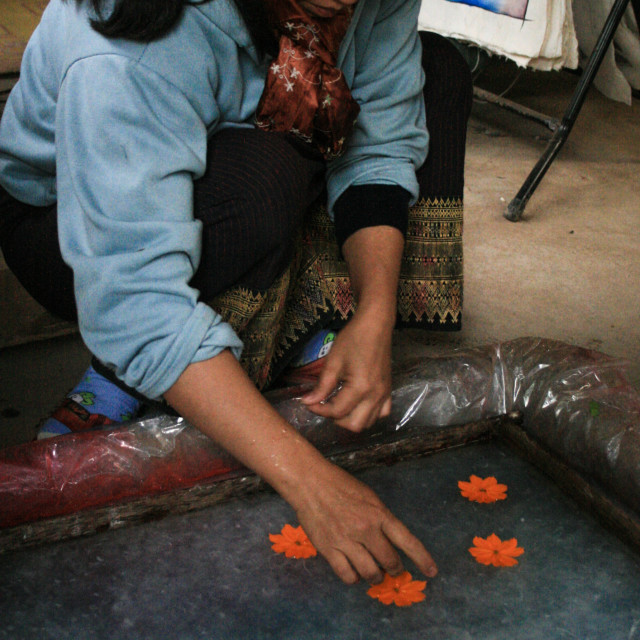 """Hand-made paper making - Luang Prabang Laos 1"" stock image"