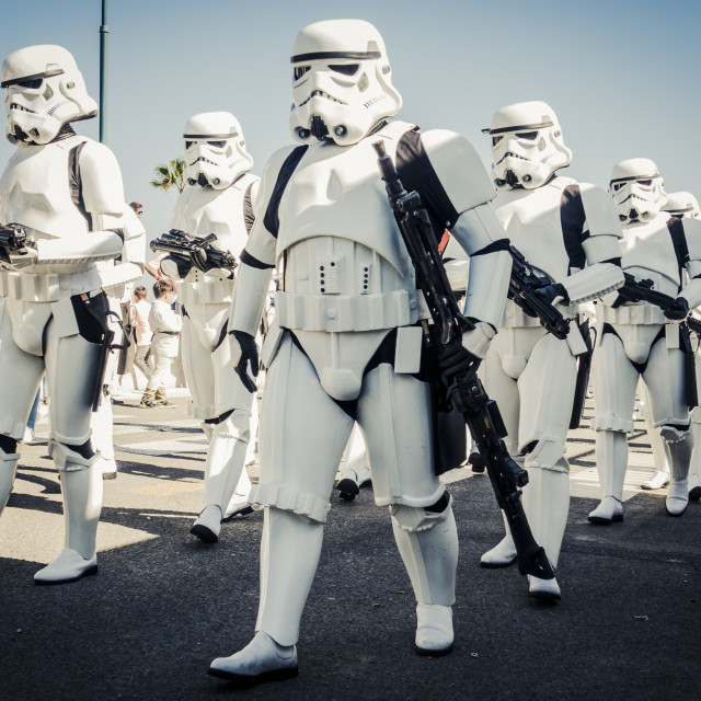 """Star Wars Parade"" stock image"