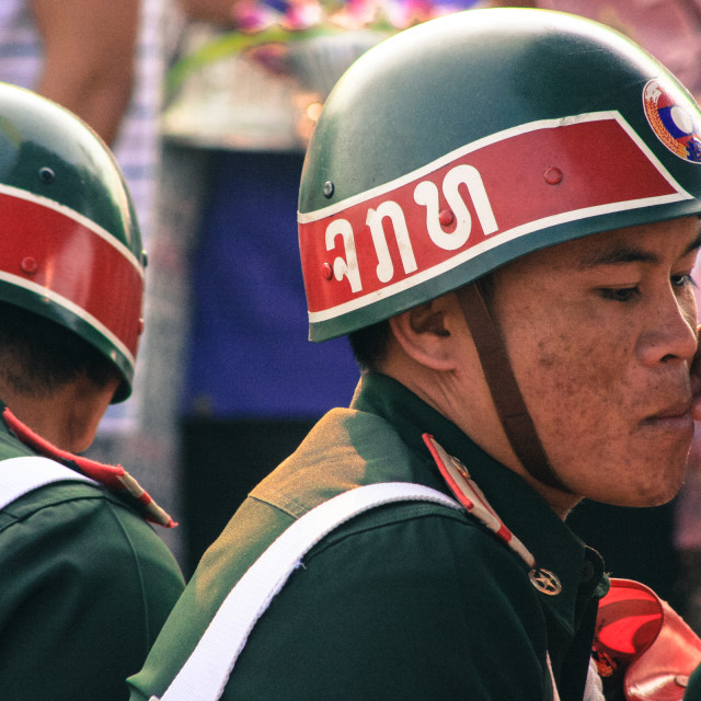 """Soldiers - Vientiane, Laos"" stock image"