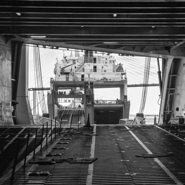 """Inside the Cargo Ship"" stock image"