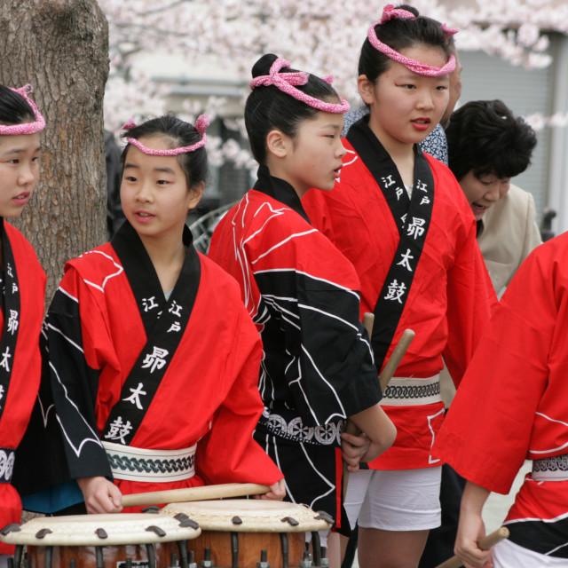 """Taiko drummers - Tokyo, Japan 1"" stock image"