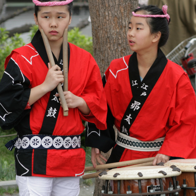 """Taiko drummers - Tokyo, Japan 2"" stock image"