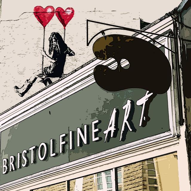 """Lover of fine art in Bristol"" stock image"