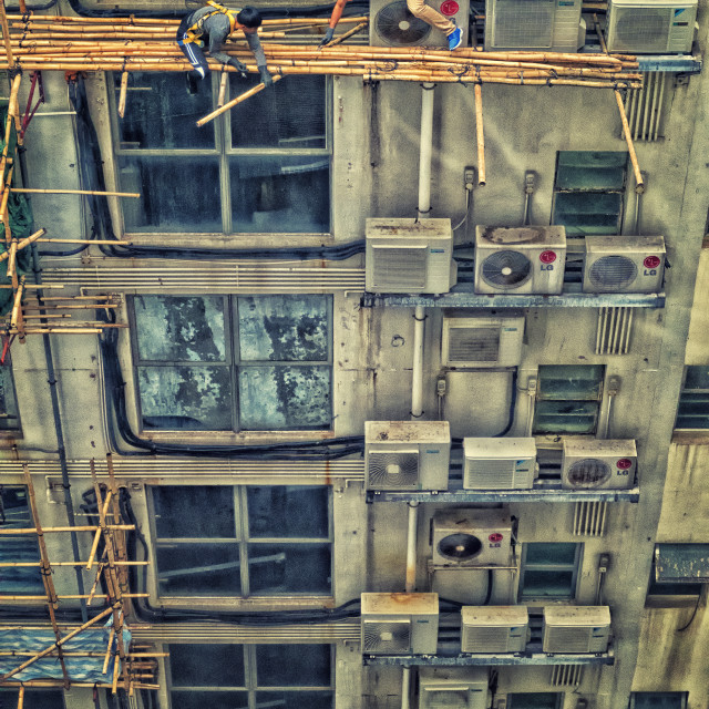 """""""AC Survival Challenge - Work Safety Hong Kong"""" stock image"""