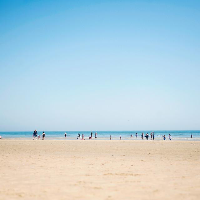 """Dymchurch beach"" stock image"