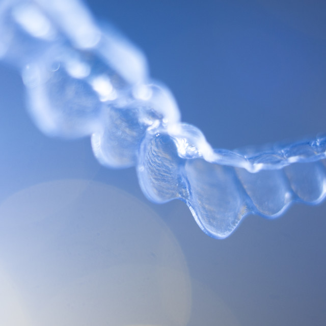 """Teeth aligners invisible retainers"" stock image"