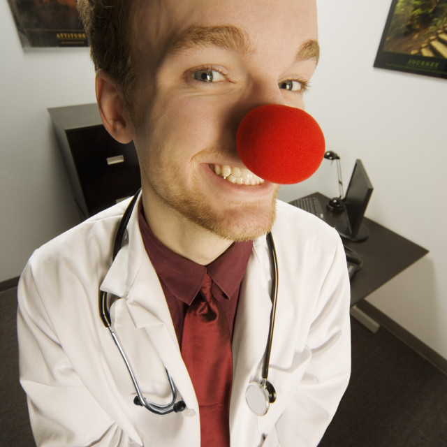 """""""Humourous Medical Professional"""" stock image"""