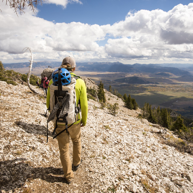 """Hiking on Sunny Day in Wyoming"" stock image"