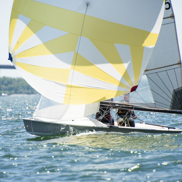 """High Performance Boat sailing"" stock image"