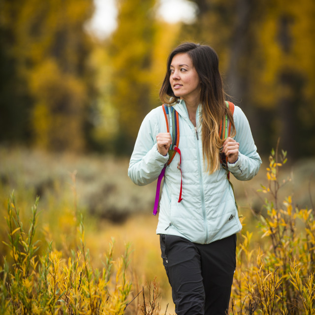 """Portrait of Woman Exploring Outdoors"" stock image"