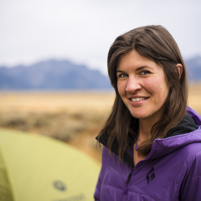 """""""Woman Camping in the American West"""" stock image"""