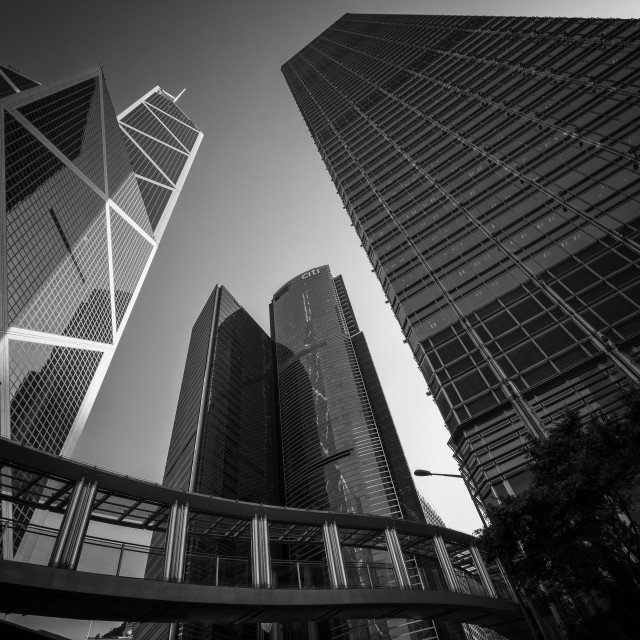 """Bank of China Tower: Central, Hong Kong"" stock image"