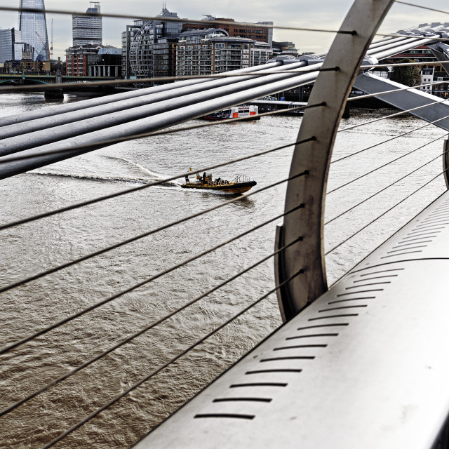 """""""A Thames view from the Millennium Bridge"""" stock image"""