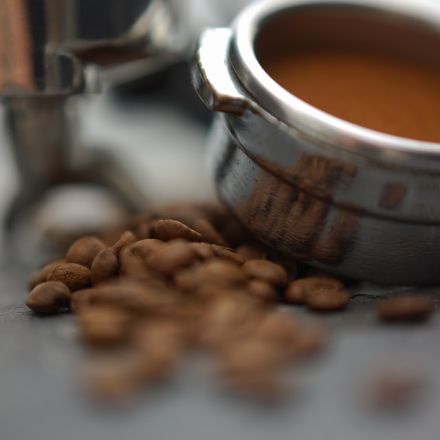 """Fresh Ground Coffee"" stock image"