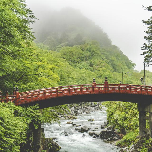 """Shinkyo Bridge"" stock image"