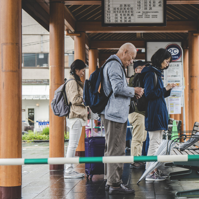 """""""Station Waiting"""" stock image"""