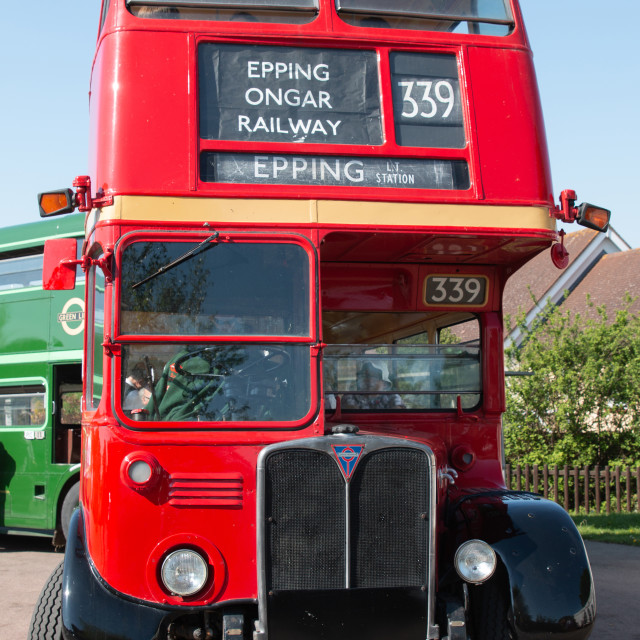 """Heritage London RT Bus"" stock image"
