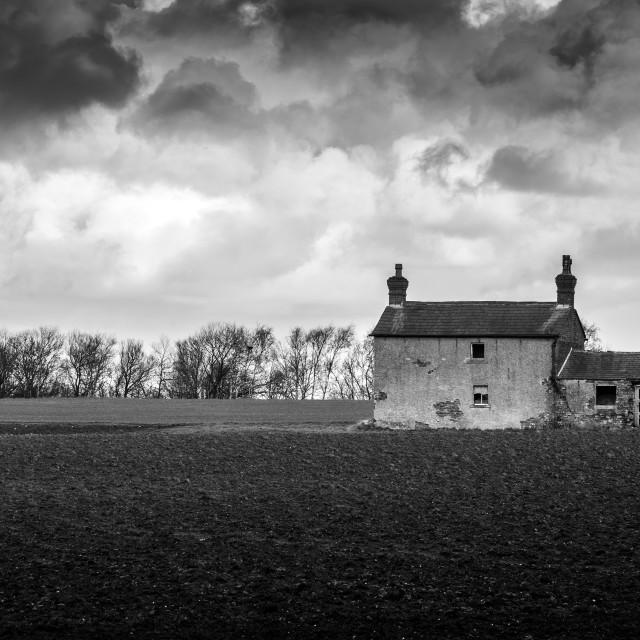 """Derelict Farmhouse"" stock image"