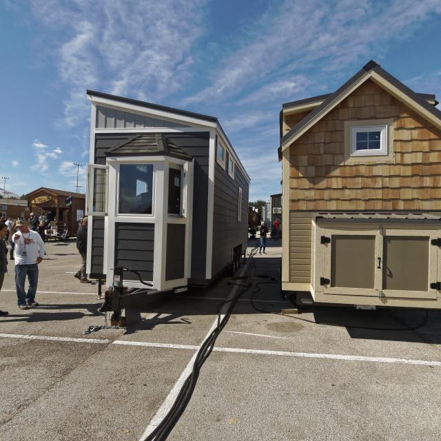 """Tiny Homes fill big dreams"" stock image"