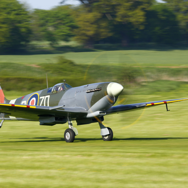 """Supermarine Spitfire Mk.9 MH434"" stock image"