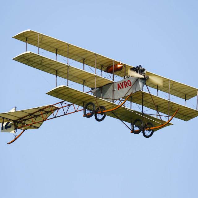 """Avro Triplane"" stock image"