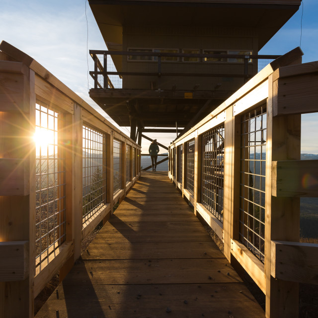 """Fire Lookout Tower"" stock image"