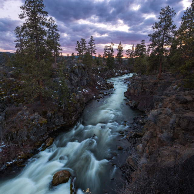 """Dillon Falls Sunset"" stock image"